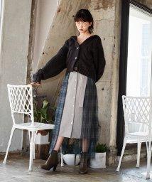 REDYAZEL/オリジナルチェックチュールドットスカート/502813548
