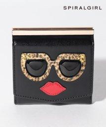 SPIRALGIRL/【SPIRALGIRLスパイラルガール】とぼけたフェイスがキュートな2つ折り財布/502855545
