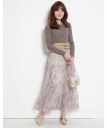 Rirandture/ドローイング刺繍チュールスカート/502788697