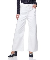 BENETTON (women)/刺繍バックポケットカットオフクロップドワイドパンツ/502852539