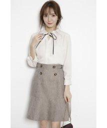 Rirandture/フロント釦裾切り替えスカート/502868511