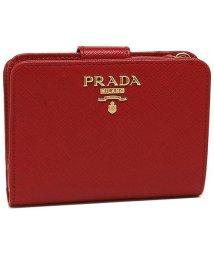 PRADA/プラダ 財布 PRADA 1ML018 QWA F068Z SAFFIANO レディース 二つ折り財布 無地 FUOCO 赤/502868580