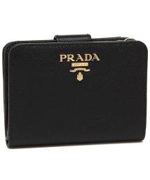 PRADA/プラダ 財布 PRADA 1ML018 QWA F0002 SAFFIANO レディース 二つ折り財布 無地 NERO 黒/502868589