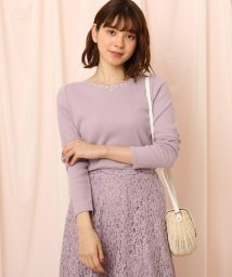 Couture Brooch/◆【WEB限定LLサイズ有】スカラップ×刺繍 裏毛トップス/502871647