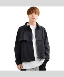 1111clothing/トップス ショート丈 アウター メンズ レディース 韓国 ファッション ドリズラー  黒 韓国ファッション ペアルック カップル お揃い 服 ジャケット/502822157