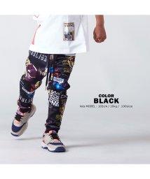 1111clothing/【 コラージュプリントリブパンツ 】 パンツ ジョガーパンツ スリムパンツ ジャージ スウェットパンツ メンズ レディース キッズ 韓国ファッション ペアルック/502822181