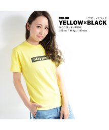 1111clothing/【STAYGOLDボックスロゴ プリントTシャツ】 Tシャツ メンズ 半袖 ビッグT ビックT レディース ユニセックス トップス カットソー コットン ロゴT/502822221