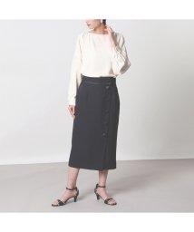 EUCLAID/麻調パイピングタイトスカート【セットアップ可】/502873648
