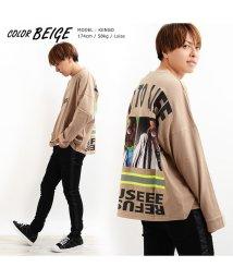 1111clothing/トップス 長袖 tシャツ ビッグtシャツ メンズ レディース ロンt 大きいサイズ  韓国 ファッション ペアルック カップル 長袖tシャツ リフレクター スト/502874082