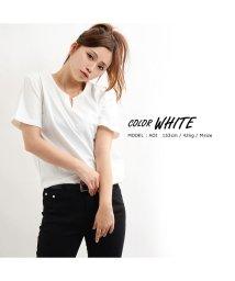1111clothing/tシャツ キーネック ピグメント メンズ レディース 韓国 ファッション ペアルック カップル 半袖 無地 お揃い 服 トップス カットソー 白 ピンク ベージ/502874120