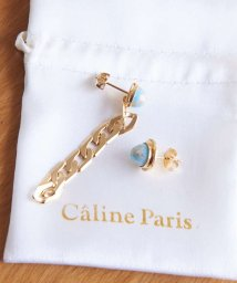 Rouge vif la cle/Caline Paris アシメデザインピアス【予約】/502874153