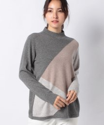 Leilian PLUS HOUSE/【特別提供品】カシミヤ配色インターシャニット/502827528