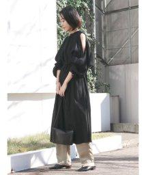 Ungrid/ショルダースリット楊柳ワンピース/502865549