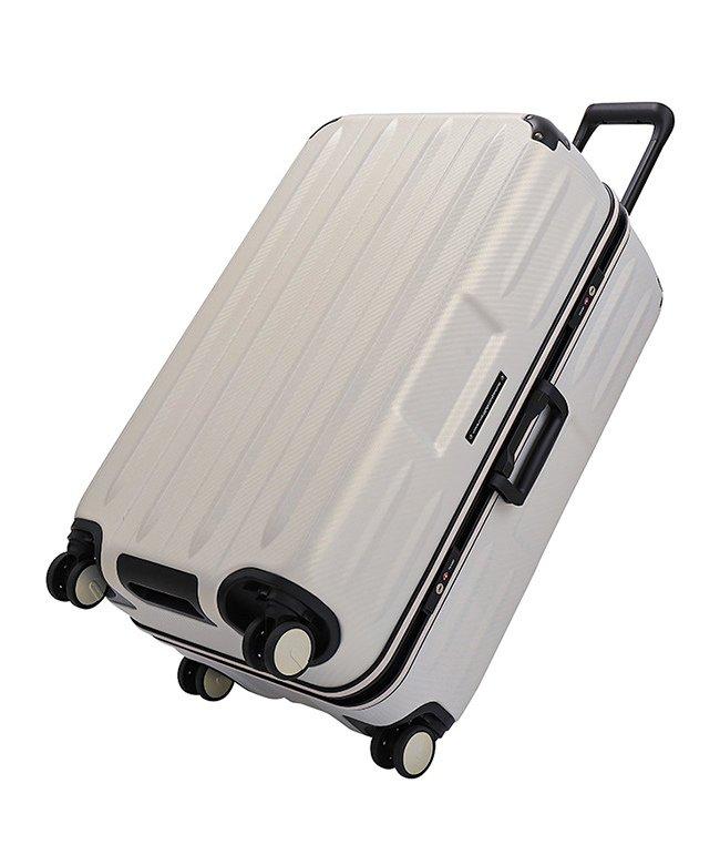 カバンのセレクション サンコー スーパーライト コンテナ スーツケース Lサイズ 100L フレーム 縦長 超軽量 MGCB−71 ユニセックス クリーム フリー 【Bag & Luggage SELECTION】