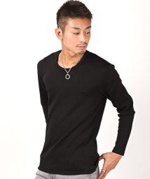 LUXSTYLE/裏シャギーUネックロンT/ロンT メンズ 長袖 Tシャツ 裏ボア シャギー Uネック 極暖/502875056