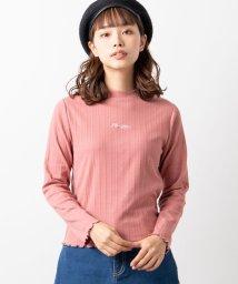 WEGO/WEGO/リブ刺繍ロゴTシャツ/502750311