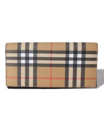 BURBERRY/【BURBERRY】Vintage Check&Leather Continental Wallet/502857283