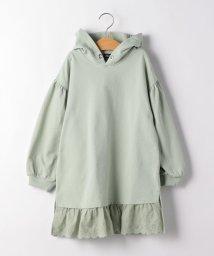 green label relaxing (Kids)/【キッズ】裾切り替えフードワンピース/502866436