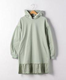 green label relaxing (Kids)/【ジュニア】裾切り替えフードワンピース/502866437