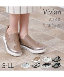 Vivian/スタースタッズスリッポンスニーカー/502877622