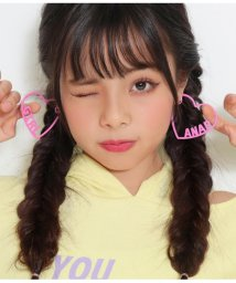 ANAP GiRL/ロゴ入りハートフープイヤリング/502878020