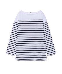 Mila Owen/ビッグシルエットボーダ-Tシャツ/502881150