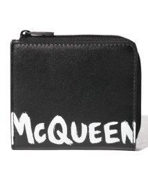 Alexander McQueen/【メンズ】【ALEXANDER McQUEEN】カード コインケース/MCQEENグラフティ【BLACK/WHITE】/502847958