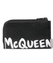 Alexander McQueen/【メンズ】【ALEXANDER McQUEEN】フラグメントケース/MCQEENグラフティ【BLACK/WHITE】/502847959