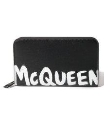 Alexander McQueen/【メンズ】【ALEXANDER McQUEEN】長財布/MCQEENグラフティ【BLACK/WHITE】/502847960