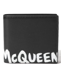 Alexander McQueen/【ALEXANDER McQUEEN】2つ折り財布/MCQEENグラフティ【BLACK/WHITE】/502847961