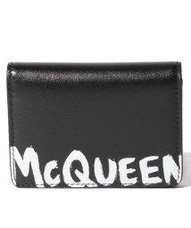 Alexander McQueen/【メンズ】【ALEXANDER McQUEEN】カードケース/MCQEENグラフティ【BLACK/WHITE】/502847962