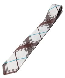 Orobianco(Necktie)/ビックチェック クレリックタイ ロゴ入り/502864472