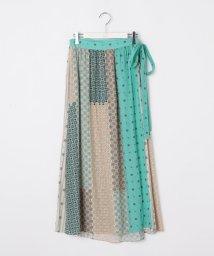 Ravissant Laviere/小紋プリントギャザーラップスカート/502870186