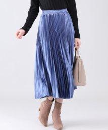 BLUEEAST/シャイニーサテンプリーツスカート/502882061