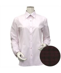 BRICKHOUSE/ウィメンズシャツ長袖形態安定 レギュラー衿 ピンク系/502882421