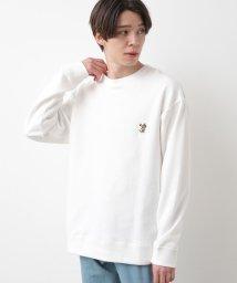 JUNRed/BEAR刺繍オージーコットンスウェット/502883447