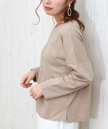 SocialGIRL/ドロップショルダーロングTシャツ/502545544