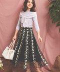 Noela/【美人百花・Ray3月号掲載】フラワー刺繍チュールスカート/502885171