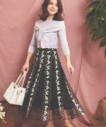 Noela/【美人百花4月号掲載】フラワー刺繍チュールスカート/502885171