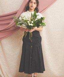 Noela/【non-no3月号掲載】フレア切替デニムスカート/502885172
