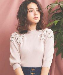 Noela/【美人百花3月号掲載】立体フラワー刺繍ニット/502885181