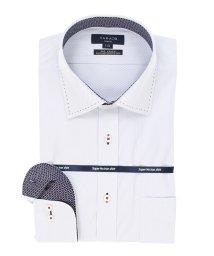 TAKA-Q/ノーアイロンストレッチ スリムフィットワイドカラー長袖ニットシャツ/502887535