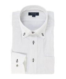 TAKA-Q/形態安定レギュラーフィット ドゥエ2枚衿長袖シャツ/502887563
