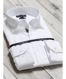 TAKA-Q/綿100% 形態安定 スリムフィット ワイドカラー長袖シャツ/502887573