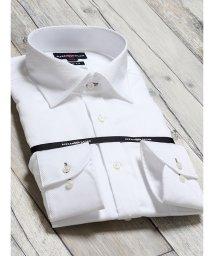 TAKA-Q/綿100% 形態安定 スリムフィット ワイドカラー長袖シャツ/502887574