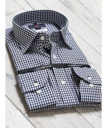 TAKA-Q/綿100% 形態安定 レギュラーフィット ワイドカラー長袖シャツ/502887578