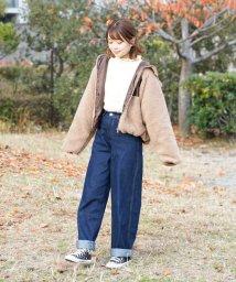 aimoha/【人気インスタグラマーコラボ】ハイウエストワイドデニム/502888011
