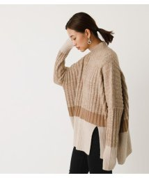AZUL by moussy/BI-COLOR LOOSE KNIT/502888805