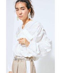 ROSE BUD/ジャカード2ポケットダブルVネックシャツ/502888934