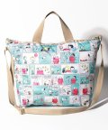 LeSportsac/DELUXE EASY CARRY TOTE ピーナッツ コミック ストリップ/LS0023395
